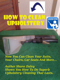 upholstery cleaning e book cover